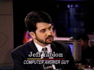Jeff Yablon, The Computer Answer Guy, on CBS-TV News' Up To The Minute