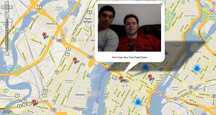 Boys On Chatroulette, Captured by Chatroulettemap
