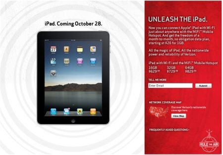 iPad at Verizon