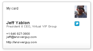 Jeff Yablon Business Card on CardCloud