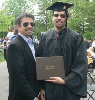Jeff Yablon and Gary Yablon at Rowan University Graduation 2011