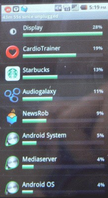 Starbucks Android App Battery Killer