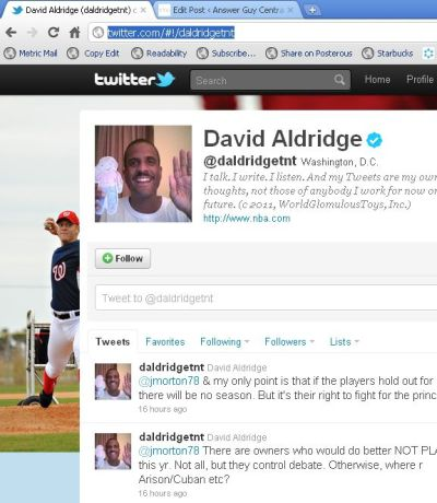 David Aldridge: Just a Shill for The NBA