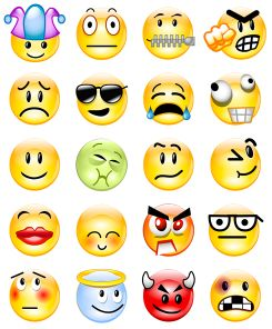 smiley face winky face emoticons