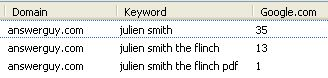 Julien Smith and The Flinch PDF (SEO Results)