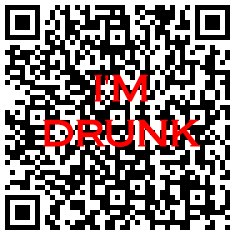 &quot;I'm Drunk&quot; QR Code