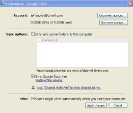 Google Drive Options