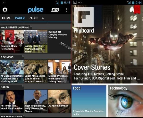 Pulse For Android Vs. Flipboard For Android