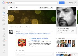 Jeff Yablon on Google Plus