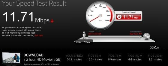 Verizon FIOS Quantum Speeds and 300 mbps