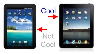 Samsung Galaxy Tab Against Apple iPad, and 'Cool'
