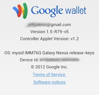 Google Wallet Verizon Wireless Version Information