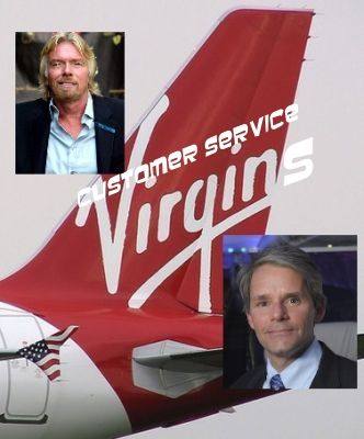 Virgin America Customer Service, Richard Branson, David Cush