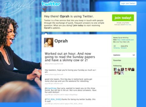 Oprah, Twitter, Media, Marketing, and Misspelled Hashtags