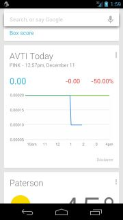Google Now Adds Stock Quotes, Knows Too Much About You
