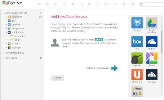 Otixo Cloud Computing and Easier Storage Management