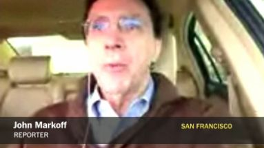 Bad Talking Head Video from John Markoff, on Skype, in a car