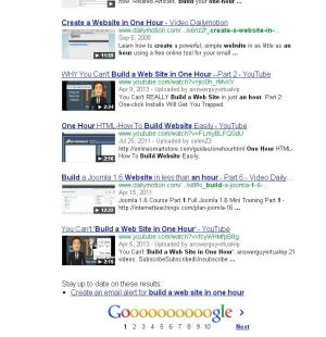 What Happens If You Search for Build a Web Site in One Hour?