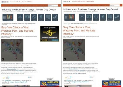 Advertsing Two-Way Influency in Adsense Videos, Example One