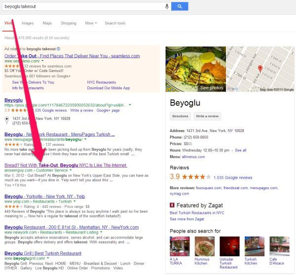 Beyoglu New York NY Search Results and Influency