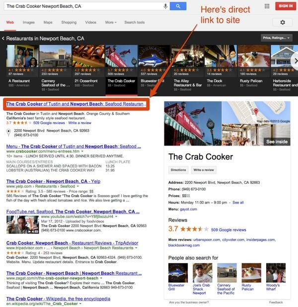 Crab Cooker Newport Beach CA Search Results and Influency
