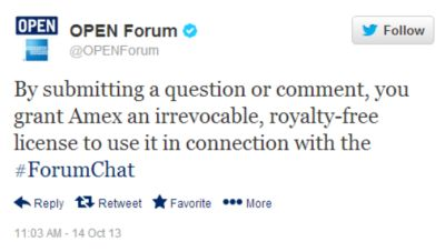 Amex Open Forums Influency Comment Policy
