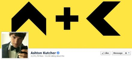 Ashton Kutcher's Facebook Influency