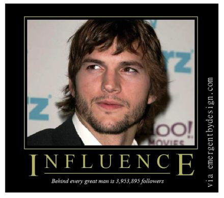 Ashton Kutchers Influency is VERY Influence-y