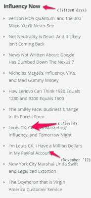 Louis CK's Tomorrow Night Drives Influency and Optimization