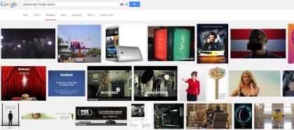 google image search for advertising change teaser
