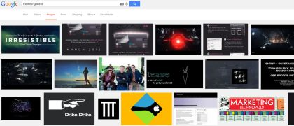 google image search for marketing tease