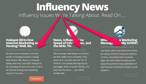 A Fallacy in Content Marketing (Where Influency Comes From)