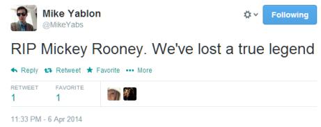 RIP Mickey Rooney