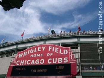 Major League Baseball is Played at Wrigley Field in Chicago, home of the MLB Chicago Cubs