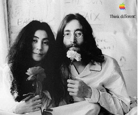 John Lennon Think Different Apple Marketing Campaign