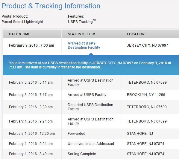 USPS Customer Service Tracking
